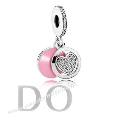 Achat Pandora Dangle Charms Devouement Dangle Charm Rose Email Clear Cz pandorabijoux.fr