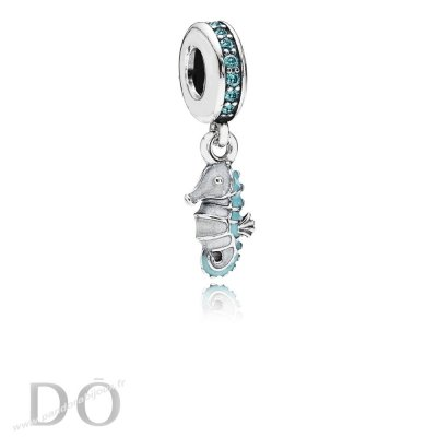 Achat Pandora Nature Charms Tropical Seahorse Dangle Charm Teal Cz Turquoise Email pandorabijoux.fr
