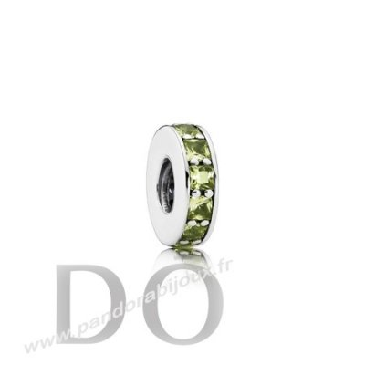 Achat Pandora Entretoises Charms Eternity Spacer Olive Vert Crystal pandorabijoux.fr