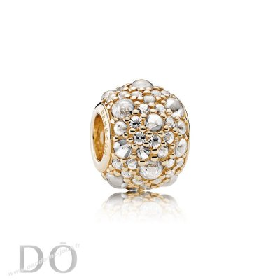 Achat Pandora Paillettes Paves Charms Shimmering Droplets Charm 14K Or Clear Cz pandorabijoux.fr