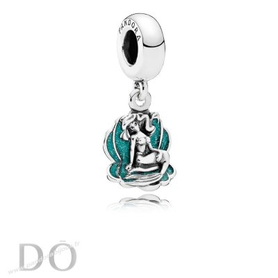 Achat Disney Ariel Breloque Sea Shell Dangle Glittery Seafoam Vert Enamel pandorabijoux.fr