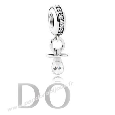 Achat Pandora Dangle Charms Pacifier Dangle Charme Clear Cz pandorabijoux.fr