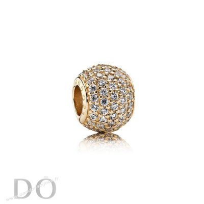 Achat Pandora Sparkling Paves Charms Pave Lumieres Charm Clear Cz 14K Or pandorabijoux.fr
