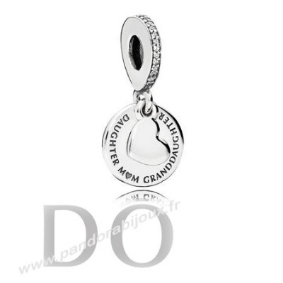 Achat Pandora Dangle Charms Trois Generations Dangle Charm Clear Cz pandorabijoux.fr