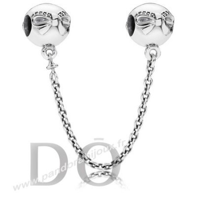 Achat Pandora Chaines De Securite Dainty Bow Safety Chain Clear Cz pandorabijoux.fr
