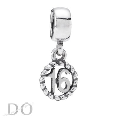 Achat Pandora Anniversaire Charms Sweet 16 Dangle Charm pandorabijoux.fr
