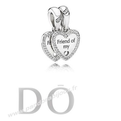 Achat Pandora Dangle Breloques Coeurs De Amitie Dangle Charm Clear Cz pandorabijoux.fr