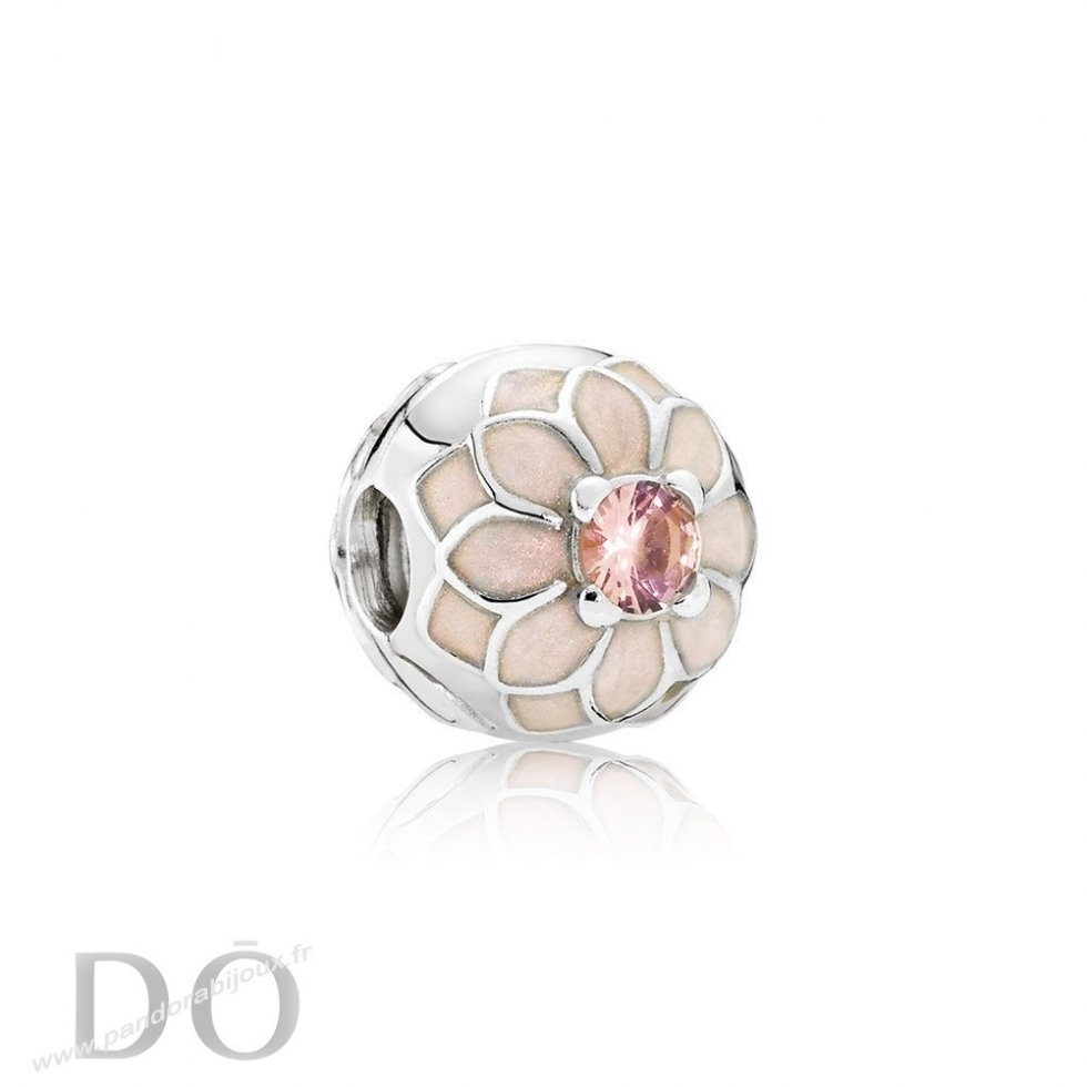 Achat Pandora Clips Breloques Blooming Dahlia Clip Creme Email Blush Rose Crystal pandorabijoux.fr